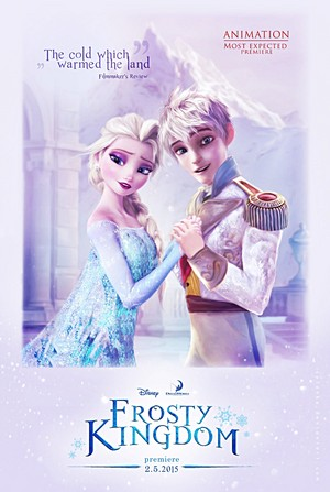 Walt Disney fan Art - Queen Elsa & Jack Frost