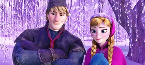 Walt 디즈니 Screencaps - Kristoff Bjorgman & Princess Anna
