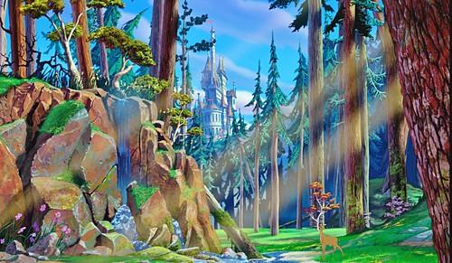 Walt Disney Characters karatasi la kupamba ukuta probably containing a banana, ndizi and common bamboo entitled Walt Disney Screencaps - The Beast's ngome & Bambi's Mother