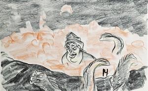 Walt Disney Sketches - Flotsam, Ursula & Jetsam