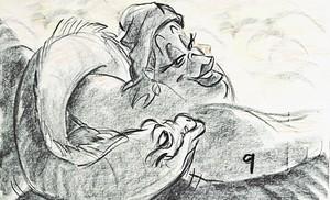 Walt disney Sketches - Flotsam & Ursula
