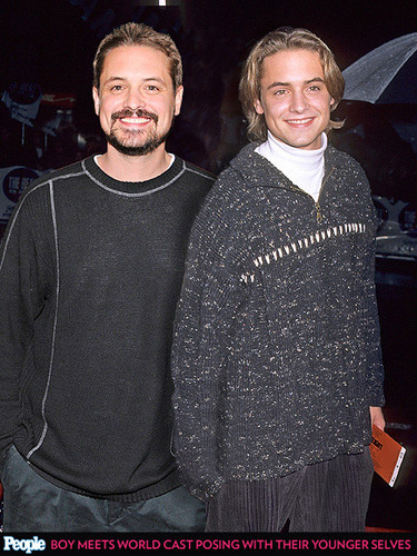 Will Friedle wallpaper probably containing a pullover entitled Will Friedle with his youngerself