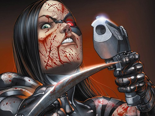 X-Men 壁纸 probably with an internal combustion engine titled X-23 / Laura Kinney 壁纸