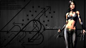 X-23 / Laura Kinney karatasi la kupamba ukuta