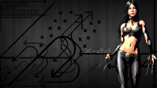 X-Men wallpaper probably containing a swimsuit, an undergarment, and a lingerie titled X-23 / Laura Kinney Wallpaper