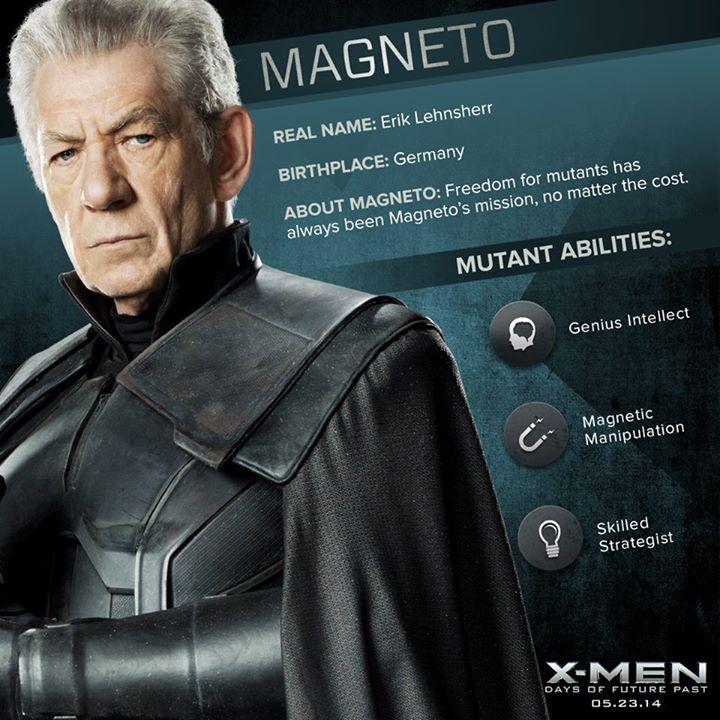 X Men: Days Of Future Past - Magneto Dossier