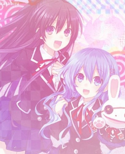 Date A Live Wallpaper Possibly Containing Anime Titled Yoshino And Tohka