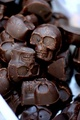 chocolate skulls  - candy photo