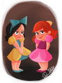 cinderella's stepsisters as little girls - cinderella photo