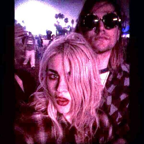 Frances Bean Cobain wallpaper containing sunglasses entitled coachella 2014