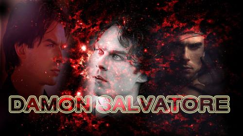 Damon Salvatore پیپر وال containing a fire, a fire, and a sunset called damon salvatore