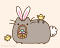 easter pusheen