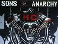 hand made SOA sign  - sons-of-anarchy fan art