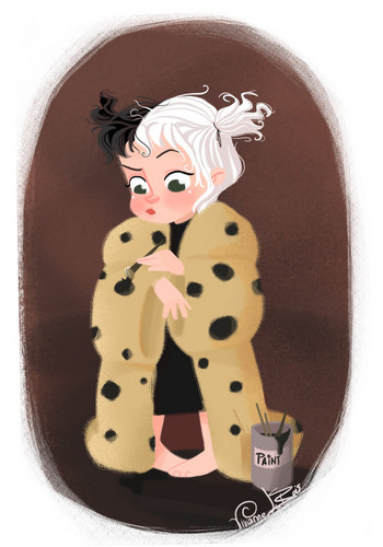 Cruella DeVil 바탕화면 entitled little cruella devil