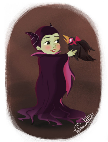 Sleeping Beauty kertas dinding called little malificent