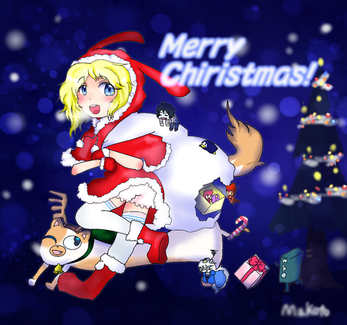 fiolee (fionna e marshal lee) wallpaper possibly containing animê titled merry natal