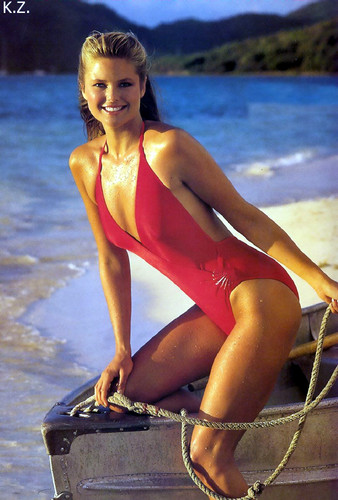 Christie Brinkley wallpaper with a maillot entitled miscellaneous swimsuit pics