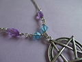 pastel pentagram necklace