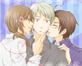 prussiaXhungaryXAustria - hetalia-couples photo