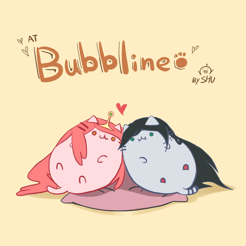 Adventure Time With Finn and Jake wallpaper probably with anime entitled pusheen bubbline
