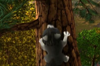 rut climbing a tree