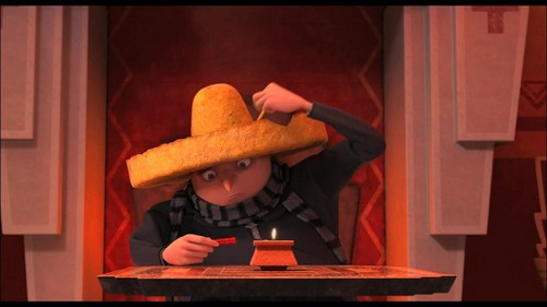 despicable me 2 club wallpaper containing a sombrero, a boater, and a snap brim hat titled taco hat and zap