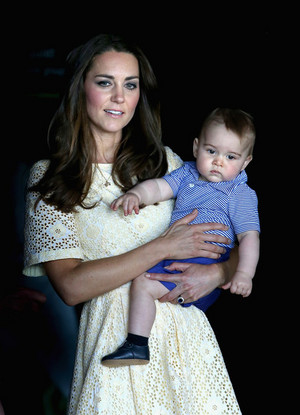 the first official trip overseas with their son, Prince George of Cambridge.