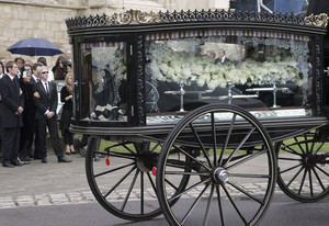 the funeral service for fashion stylist Isabella Blow