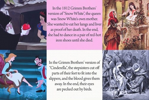Snow White and the Seven Dwarfs wallpaper titled the true endings of disney's fairy tales