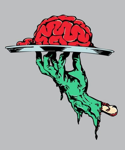 Zombies kertas dinding titled zombie brains