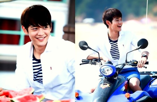 Choi Minho wallpaper probably containing a motorcycle cop entitled    Choi Minho