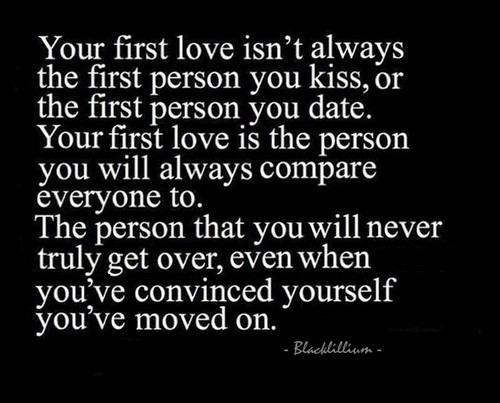Quotes wallpaper entitled              First Love