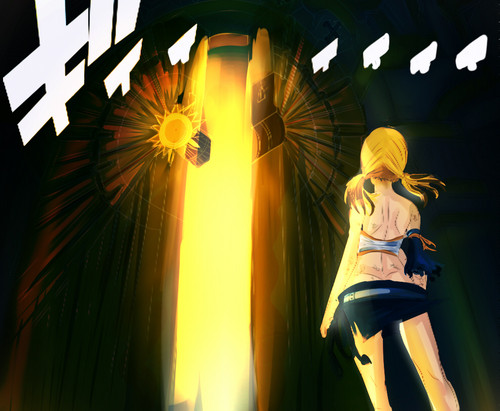 Fairy Tail Обои called *Lucy Gate Opening*