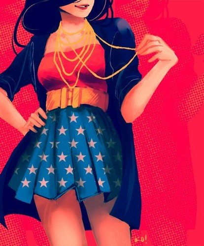 Wonder Woman wallpaper probably with a polonaise, a gathered skirt, and a frock entitled  Wonder Woman