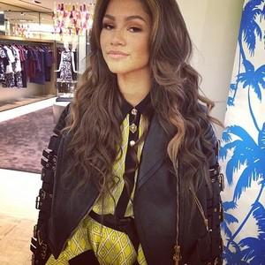 (more)Zendaya and Chanel Iman at a celebration for designer Fausto Puglisi's debut