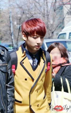 140321 Jungkook otw to School