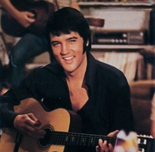 "Elvis Presley wallpaper containing an acoustic guitar and a guitarist titled 1969 Film, ""Change Of Habit"""
