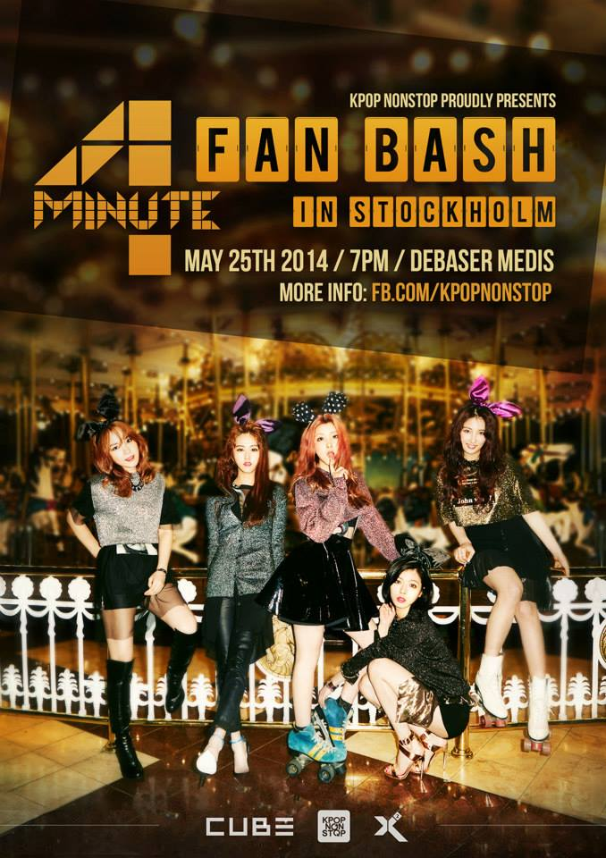 4MINUTE پرستار Bash (Showcase) in Stockholm, Sweden poster