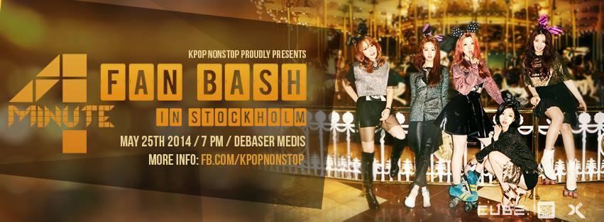 4MINUTE fan Bash (Showcase) in Stockholm, Sweden poster
