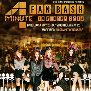4MINUTE fã Bash (Showcase) in Stockholm, Sweden poster