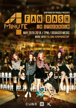4MINUTE 粉丝 bash (Showcase) in Stockholm, Sweden poster