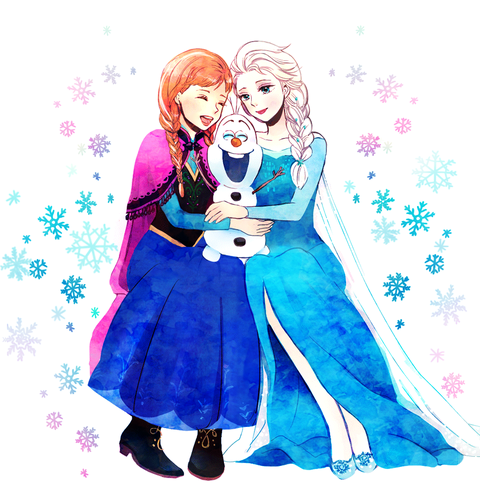 Princess Anna kertas dinding titled Anna, Elsa and Olaf