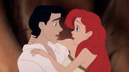 ディズニープリンセス 壁紙 titled Ariel and Eric