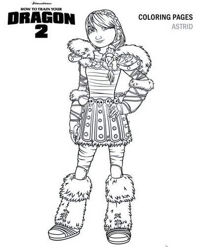 how to train your dragon images astrid coloring page