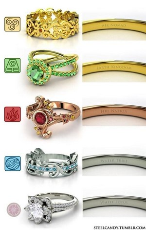 awatara The Last Airbender rings