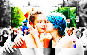 'Blue Is the Warmest Color' wallpaper - adele & Emma