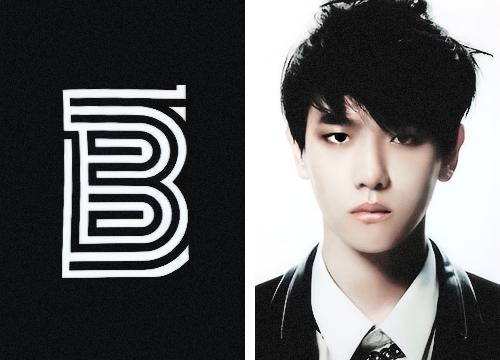এক্সো দেওয়ালপত্র probably containing a business suit, a well dressed person, and a portrait called Baekhyun 'Overdose'