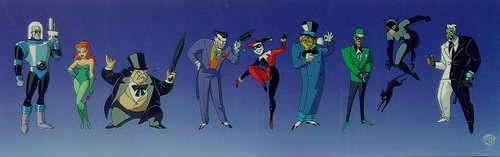 Childhood Animated Movie Villains karatasi la kupamba ukuta entitled Batman Villains