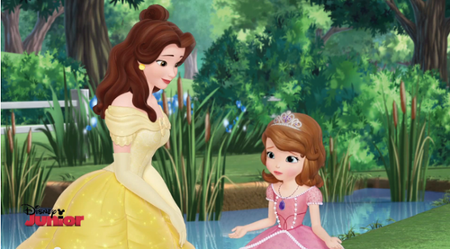 A Bela e a Fera wallpaper called Belle and Sofia the First