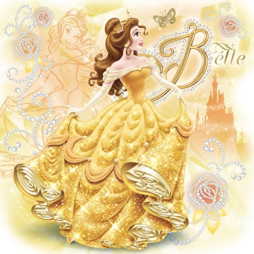 Princesses Disney fond d'écran probably with a petit gâteau, cupcake and a bouquet entitled Belle
